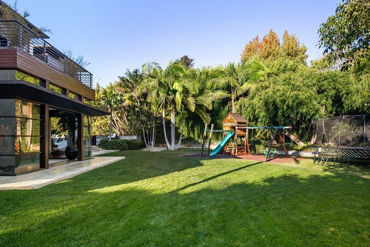 kids playground in matt damon's house