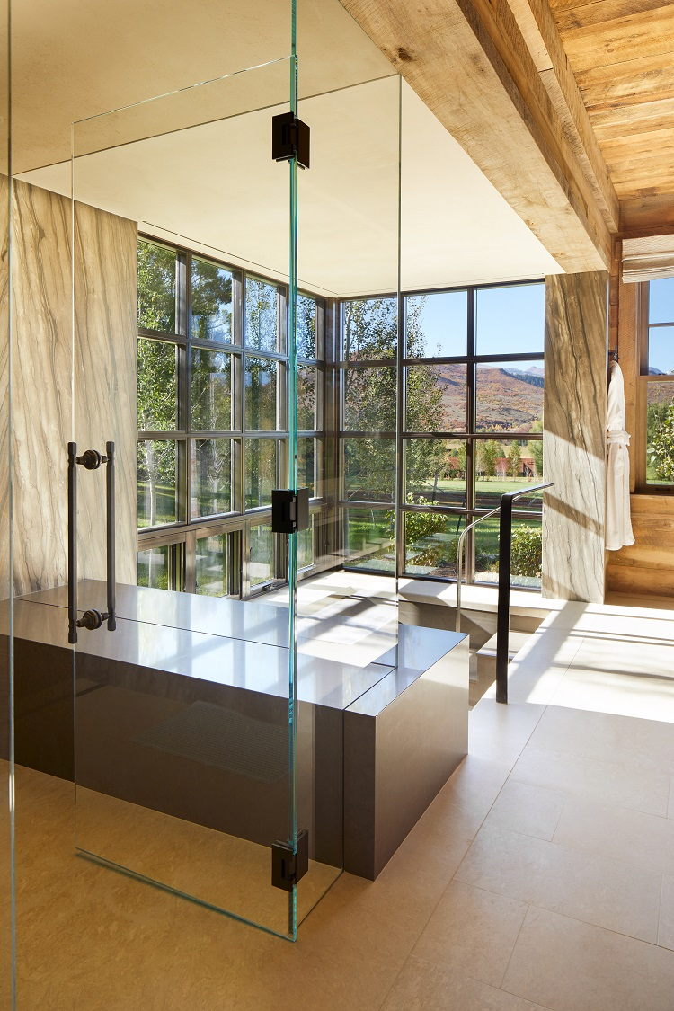 picture perfect views of the mountains from inside the aspen ranch