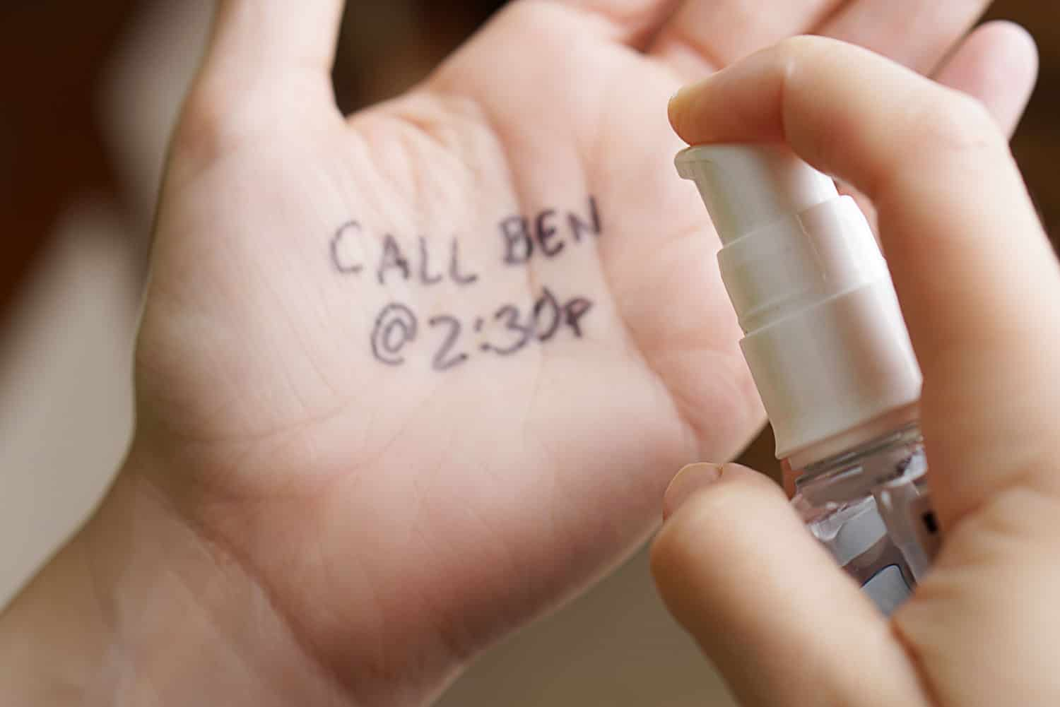 using hand sanitizer to remove permanent marker from hand