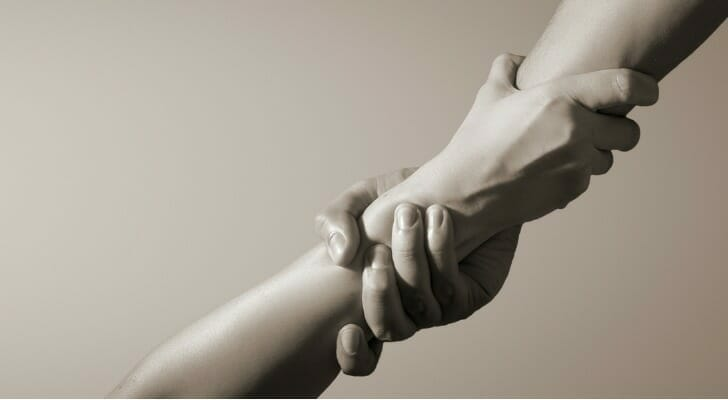 Helping hand concept picture
